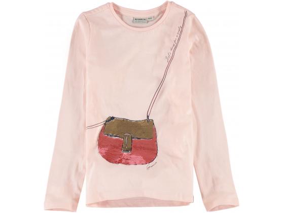 Garcia kids girls T-shirt ls med veske Rosa