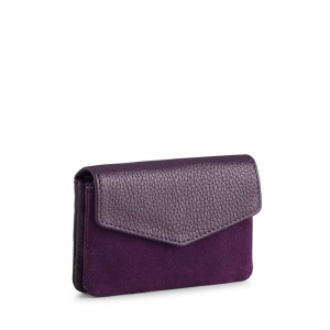 Faith Coin Purse Suede Purple