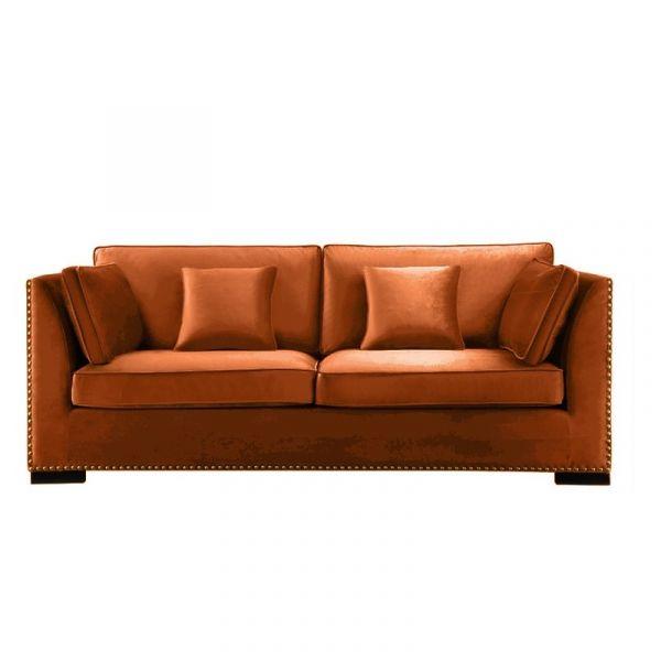 Sofa Manhattan velour med nagler