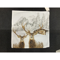 Putetrekk Two Deer 45x45cm