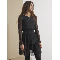 Sue langermet kjole teens Black