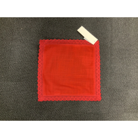 Brikke Red lace 30x30