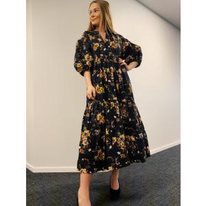 Structured Cotton Midi Dress -Elegant
