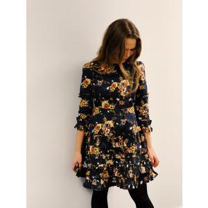 Structured Cotton Ruffle Dress -Elegant