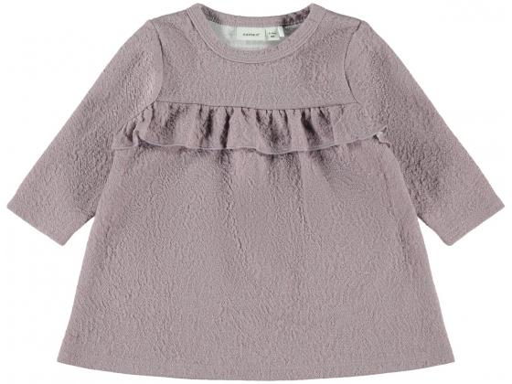 Saga langermet kjole baby Sea Fog