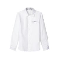 Rapsu langermet skjorte kids mønstret Bright White