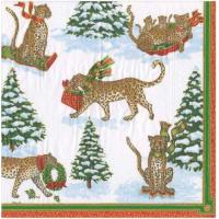 """""""Leopards in Snow Paper"""" lunsjserviett"""