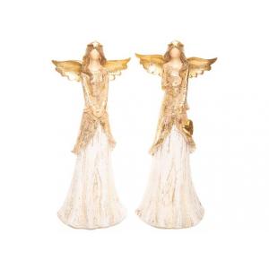 Engel gull/beige u/ansikt 21,5cm 2ass