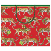 Christmas Leopards Large Gift Bag