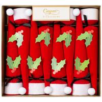 Santa Hat Cone-Shaped Celebration Christmas Crackers - 8 Per Box