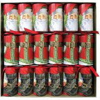 Santa Claus Lane Celebration Christmas Crackers - 6 Per Box