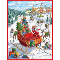 Santa's Sleigh Advent Calendar - 1 Each