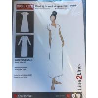 K2226 Maxi kjole med volangarm