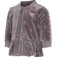 Hummel Ada zip jacket velour grå