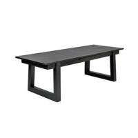 Spisebord Haag sort heltre eik B: 220, D:100, H:75+1 x 50cm