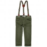 Robin kordfløyel bukse med bukseseler mini Olive Night
