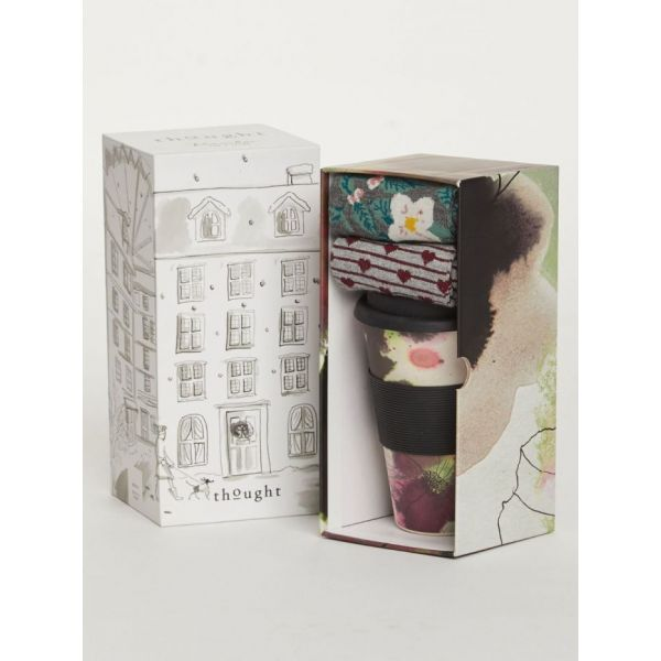 Floral Bamboo Cup & Socks