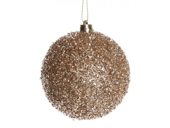 Julekule champagne glitter