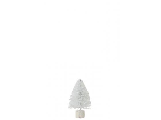 Juletre hvit med glitter