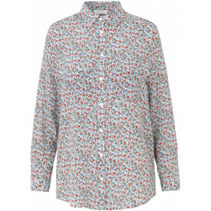 Nadia silk shirt flower