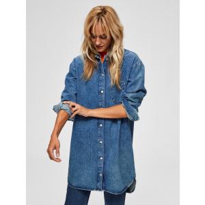 Harper lang skjorte/kjole blå