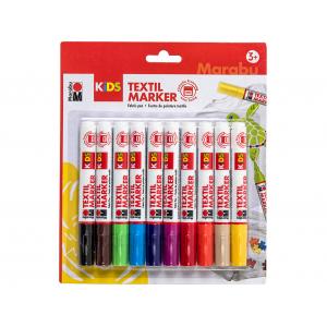 Marabu KIDS Textile Painter – Sett med 10 farger