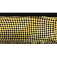 Pepita rutet stoff svart og gult
