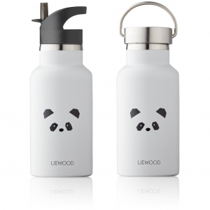 LIEWOOD - ANKER DRIKKEFLASKE PANDA LIGHT GREY