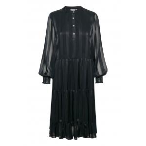 Woven Dress O-Neck