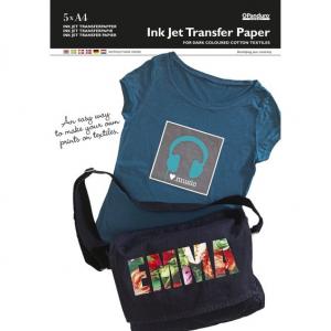 Transferpapir Mørkt stoff 5 pk