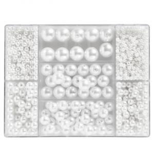 Perlemiks akryl Ø3-12mm Hvit