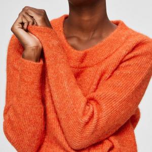 Sif Knit O-Neck Orange