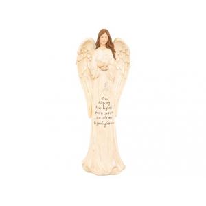 Engel Tro, håp,kjær. beige/gull