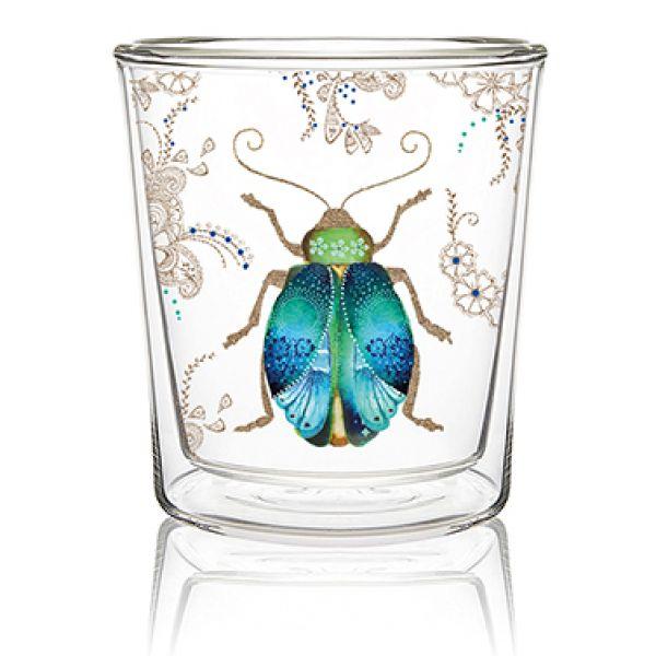 Dobbeltvegget glass Scarab