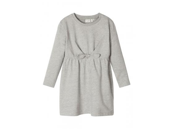 Vibs langermet sweatshirtkjole Grey Melange