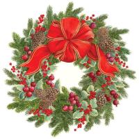 Evergreen Wreath Die-Cut Coaster