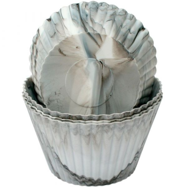 Muffinsformer Marmor i silikon 12stk