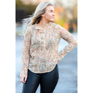 Woven Shirt Blouse L/S