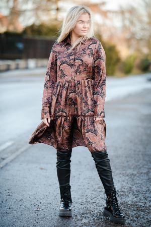 Penny Dress - Rust Paisley