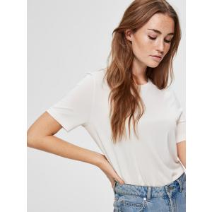 Ella t-skjorte kremhvit