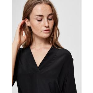 Ella kortermet bluse svart