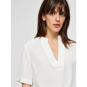 Ella kortermet bluse hvit