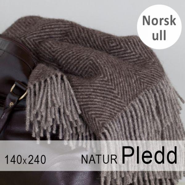 Naturpledd nr 108 brun/grå