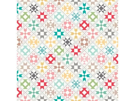 """My Happy Place Home Dec Quilt Blocks Cream 57/58"""""""