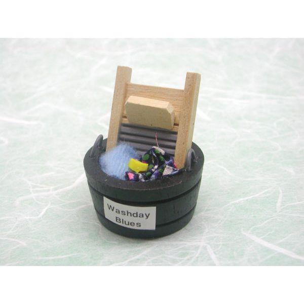 Miniatyr – Vaskebrett og bøtte