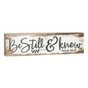 Dekor-Be still & Know (15 x 4 cm)