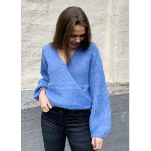 Dolly wrap knit - blue combo