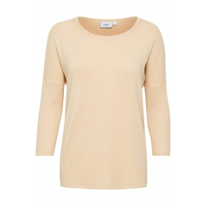 Knit Blouse With Rib Sleeves