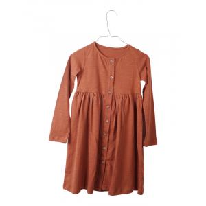 KRUTTER - DAGNY DRESS DARK CARAMEL
