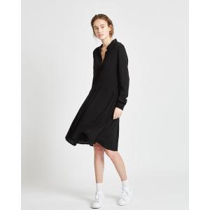 Bindie kjole med knapper svart